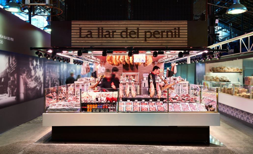 Parada La llar del Pernil en el Mercat de la Boquería de Barcelona