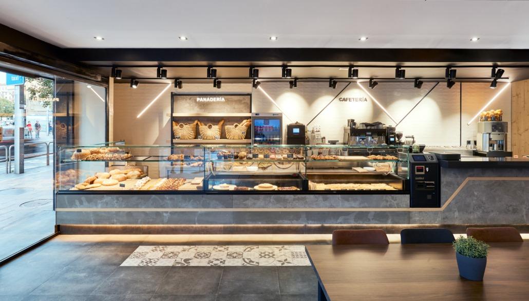 Interior de la panadería Trigo de Barcelona